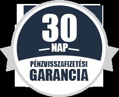30 napos pénzvisszafizetési garancia
